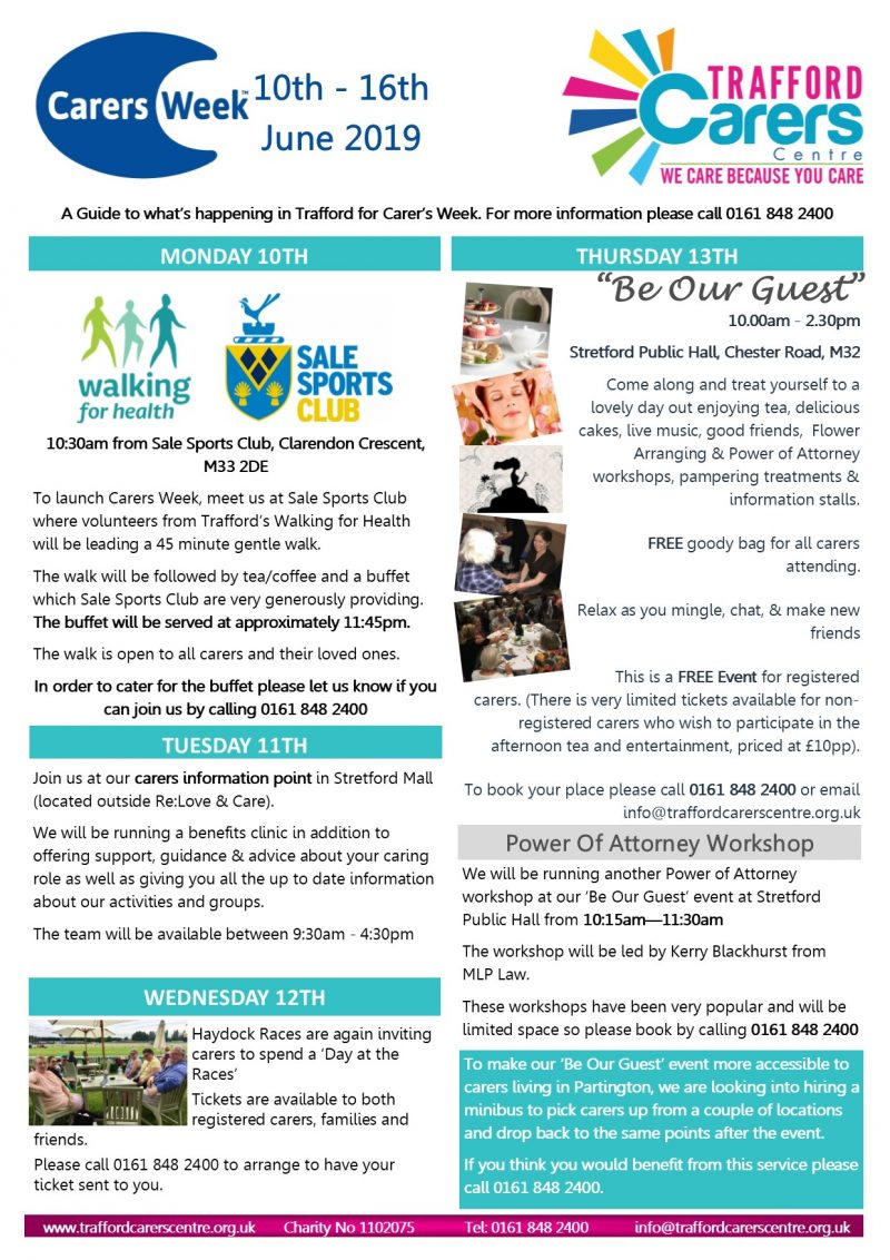 Carers Week What's On Poster